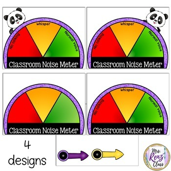 Noise Meter - Noise Level Chart in 4 Designs FREEBIE