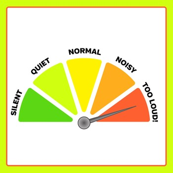Noise Meter / Volume Rating Dial Clip Art Set for Commercial Use