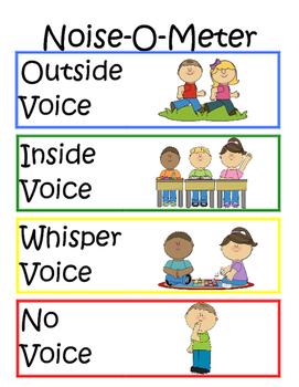 Noise-O-Meter by Mrs Abbott | Teachers Pay Teachers
