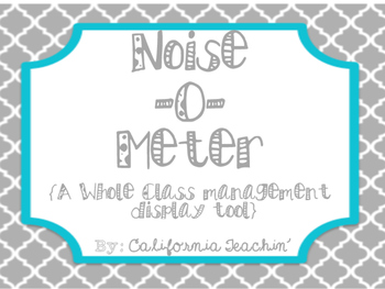 Noise-O-Meter {Whole Class Management tool}