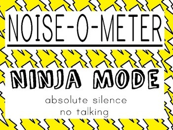 Noise-O-Meter (yellow and white pattern)