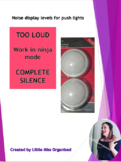 Noise level posters for push lights