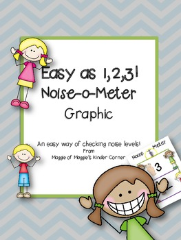Noise-o-Meter Graphic for K-2 Classrooms  It's as easy as