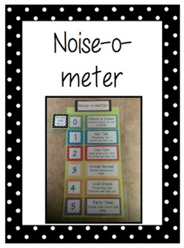 Noise-o-meter: Noise Level ... by The Teaching Chick | Teachers ...