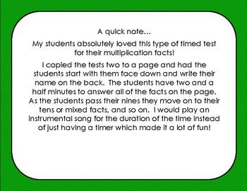 Noisy Nines Multiplication Time Test