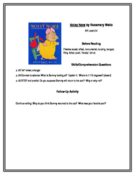 Noisy Nora for Guided Reading Groups