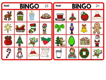 Noël:  French Christmas Bingo Game