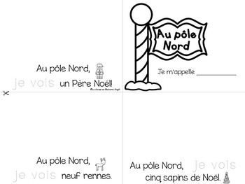 Noël: French Christmas Themed Emergent Readers - 3 mini-books
