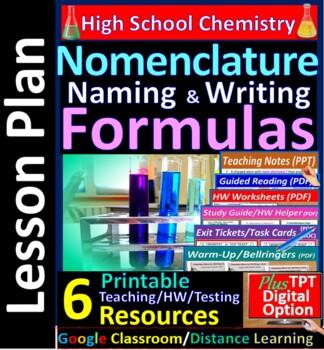 Nomanclature: Naming and Formula Writing - Worksheets & Pr