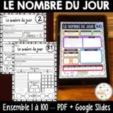 Nombre du jour - Ensemble 1-100 - French Numbers - PDF + Distance Learning