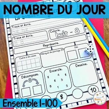 Nombre du jour - les nombres 1-100 (Ensemble) - French Numbers - Bundle
