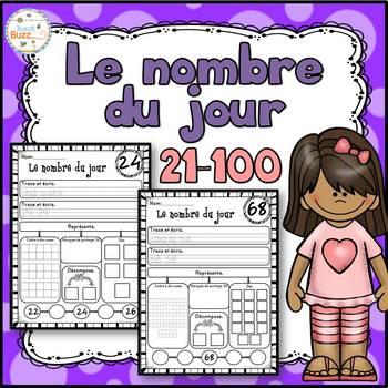 Nombre du jour - les nombres 21-100 - French Numbers