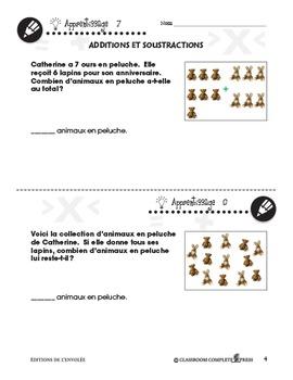 Nombre et Opérations: Additions et Soustractions An. PK-2