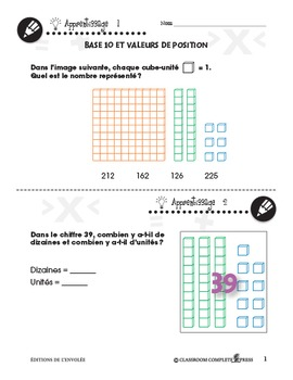 Nombre et Opérations: Base 10 et Valeurs de Position An. PK-2