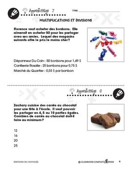 Nombre et Opérations: Multiplications et Divisions An. 3-5