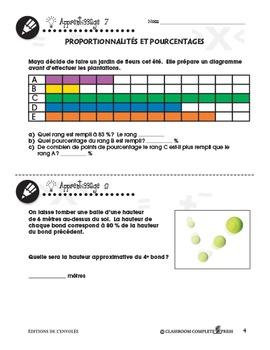 Nombre et Opérations: Proportionnalités et Pourcentages An. 6-8