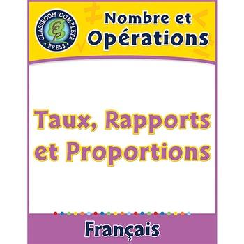 Nombre et Opérations: Taux, Rapports et Proportions An. 6-8