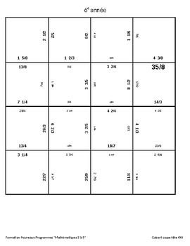 Nombre fractionnaire VS Fraction impropre: casse-tête