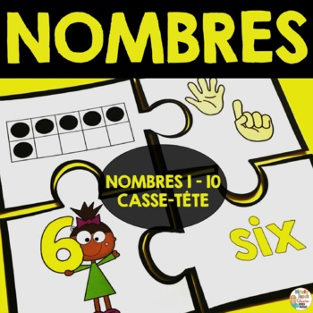 Nombres 0-10   (11 casse-tête)     -     French numbers