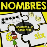 Nombres 0-10   (11 casse-tête)     -     French math game