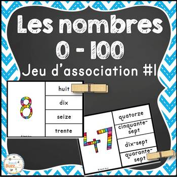 Nombres - 0-100 - jeu d'association #1 - French Numbers
