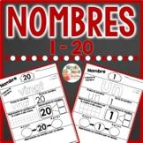 Nombres - pages d'activités   -   French Number Worksheets
