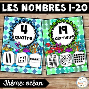 Nombres 1-20 - Affiches - French Numbers - Océan