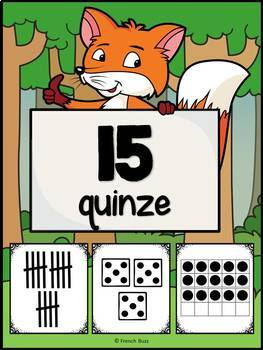 Nombres 1-20 - Affiches - French Numbers - Renards