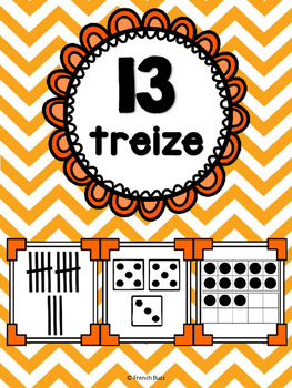 Nombres 1-20 - Affiches - Thème: chevron - French Numbers - Posters
