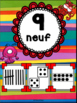 Nombres 1-20 - Affiches - Thème: monstres - French Numbers - Posters
