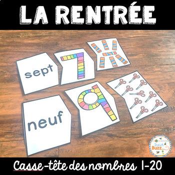 Nombres 1-20 - La rentrée - Puzzles - French Numbers