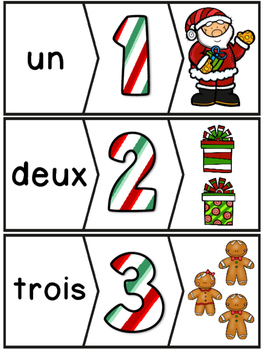 Nombres 1-20 - Puzzles - French Numbers - Noël