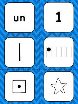 Nombres 1-20 - Référentiel -  French Numbers