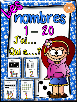 "Nombres 1-20 - jeu ""j'ai... qui a...?"" - French Numbers"