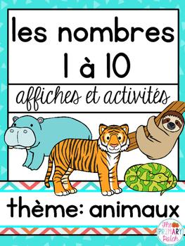 Nombres à 10 Animaux French Math and Literacy Centers Activités en français