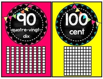 Nombres 1 à 100 (tableau noir)