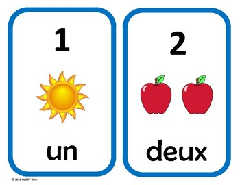 Nombres 1 à 20 cartes avec images (numbers 1 to 20 cards with pictures)  French