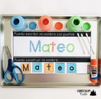 EDITABLE Name Activities in Spanish {Actividades de Nombre}