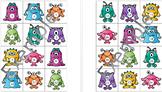 Nombres calendrier - 1 à 31 - Monstres