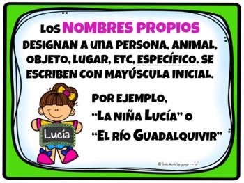 Nombres comunes y propios Pósters español Flash Free gratis