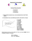 Nombres de las fracciones/ Fraction Names in Spanish and English
