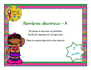 Nombres décimaux - A - 3e année