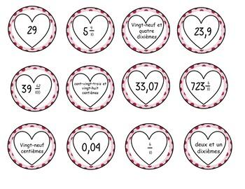 Nombres décimaux de la st-Valentin