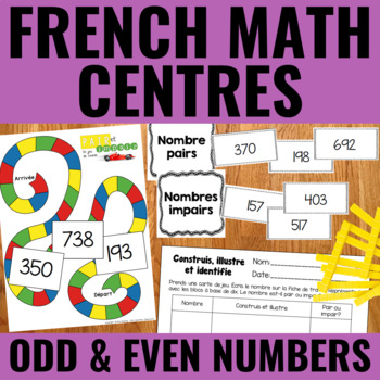 Nombres pairs et impairs - Odd and Even Numbers Guided Math Centers FREEBIE