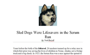 Nome Newspapers Articles- A multi- curricula activity