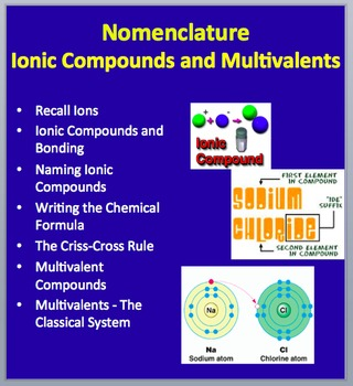 Nomenclature - Ionic Compounds and Multivalents - Chemistry Lesson Package
