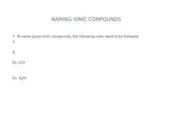 Nomenclature - Ionic & Molecular Bonds (Student Copy)