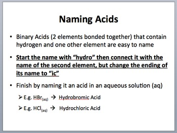 Nomenclature - Polyatomics and Covalent Compounds - Chemistry Lesson Package