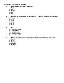 Nomenclature Test (V3 of 4) + Key