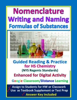 Nomenclature: Writing and Naming Formulas - Guided HS Chem